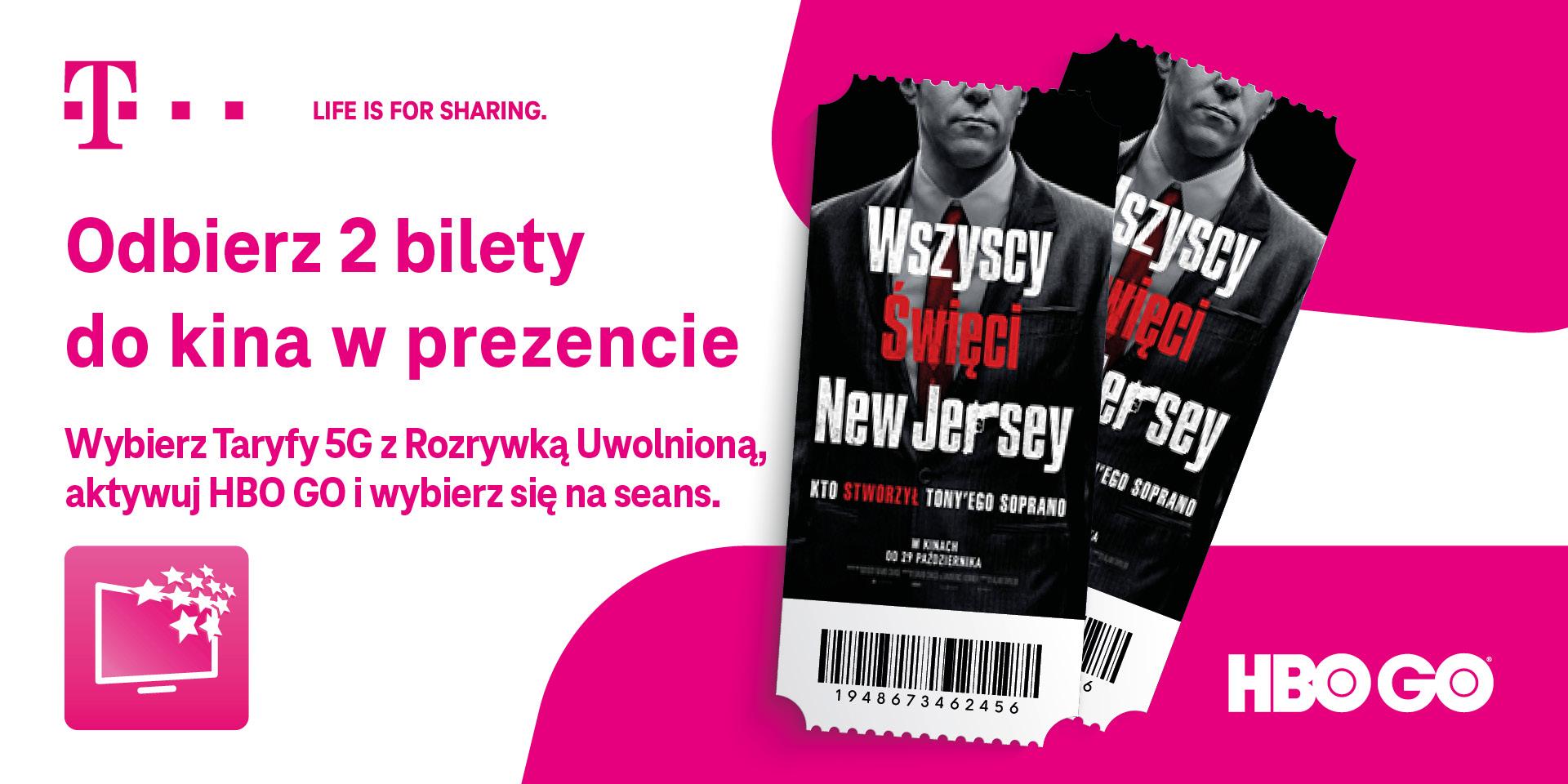 """Z T-Mobile """"Rozrywka uwolniona"""" również w kinie – aktywuj HBO GO i zgarnij bilety do kina"""